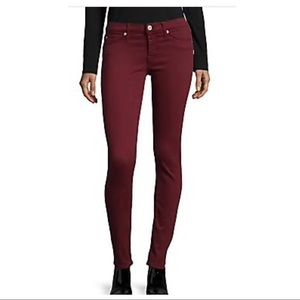 Hudson Krista super skinny jean crimson red 28